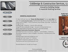 Tablet Preview of caddesignllc.info